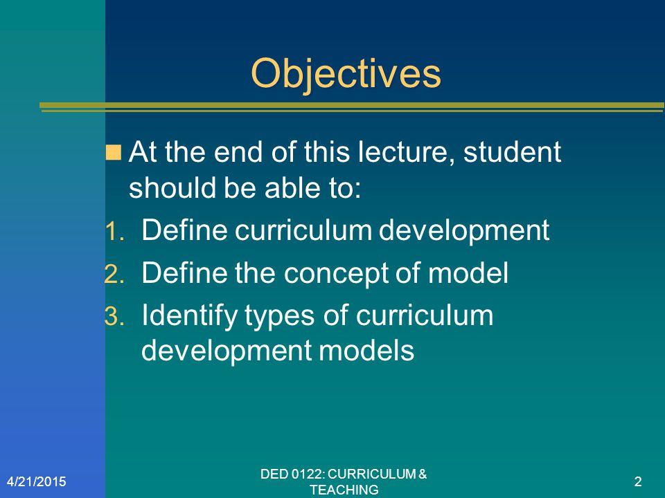 the tyler model of curriculum design