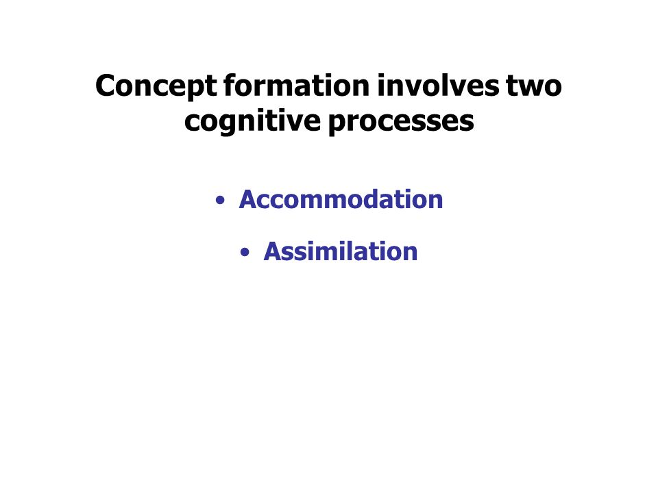 Concept formation involves two cognitive processes