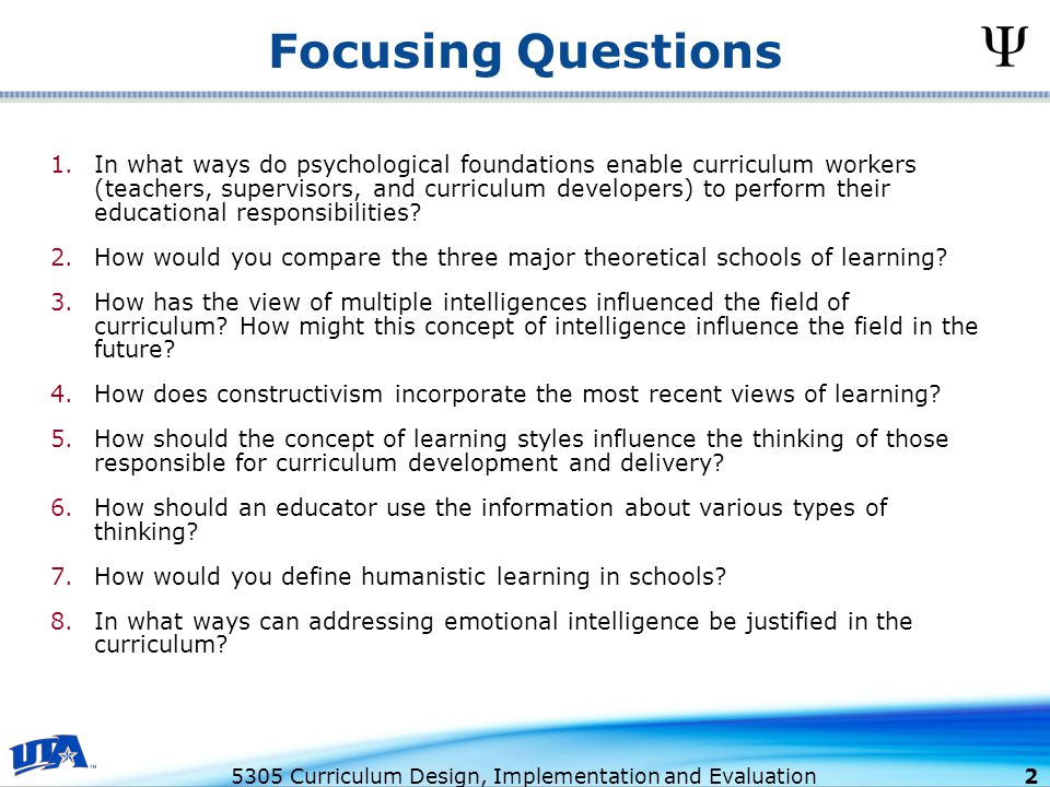 major types of curriculum