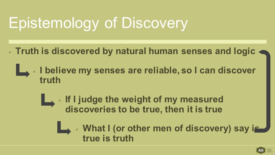 Epistemology of Discovery