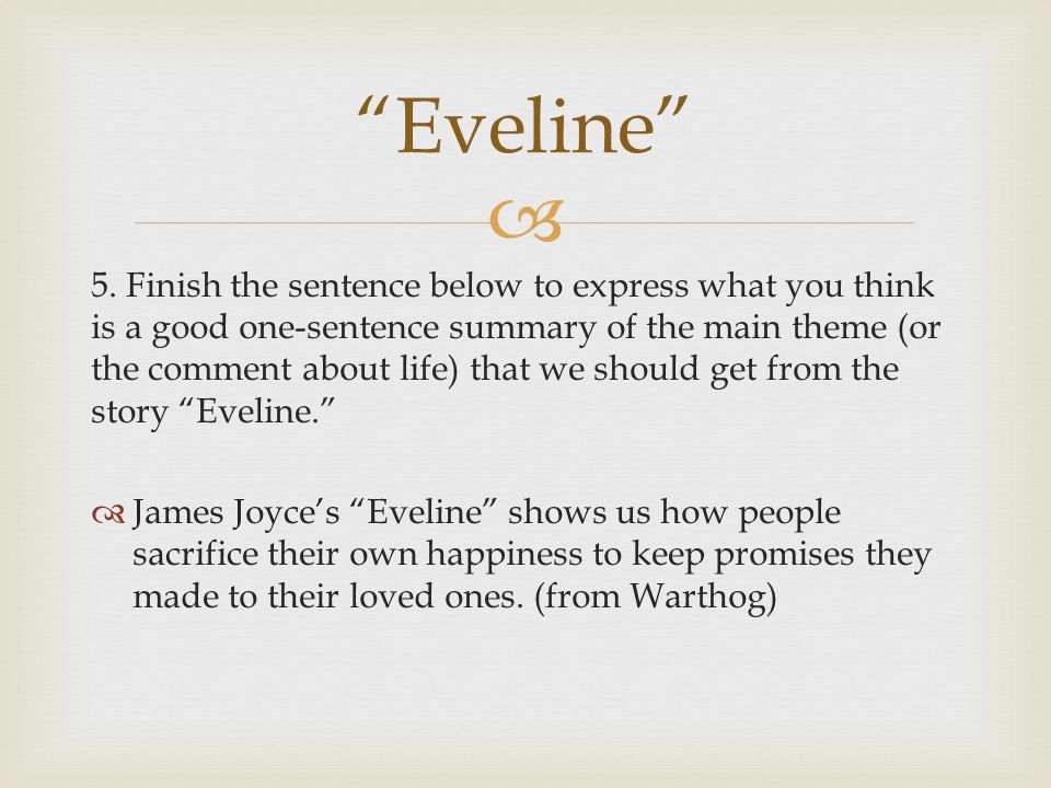eveline by james joyce summary and analysis