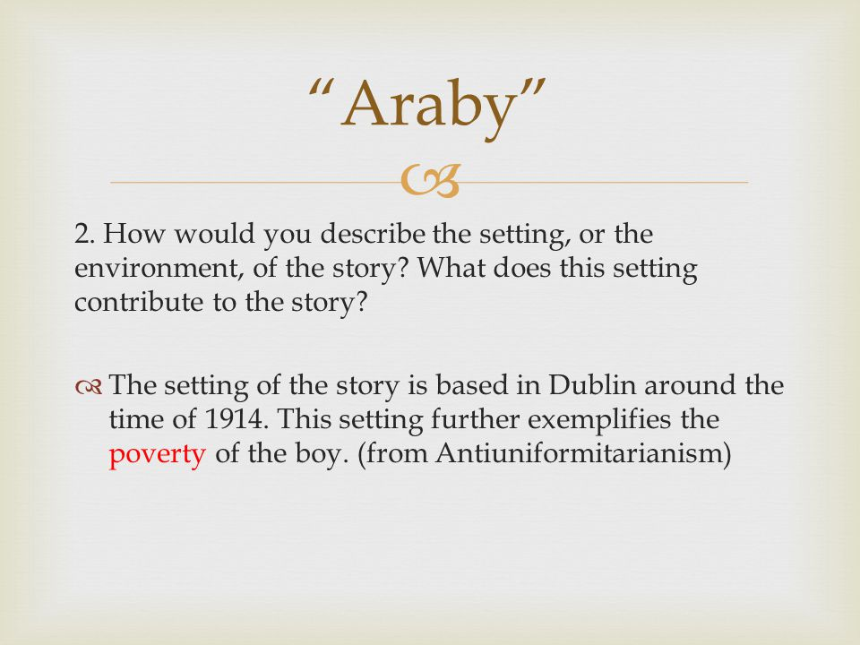 who is the protagonist in araby