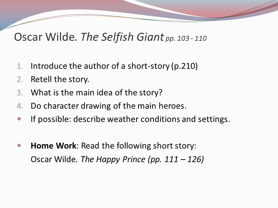 the selfish giant short summary