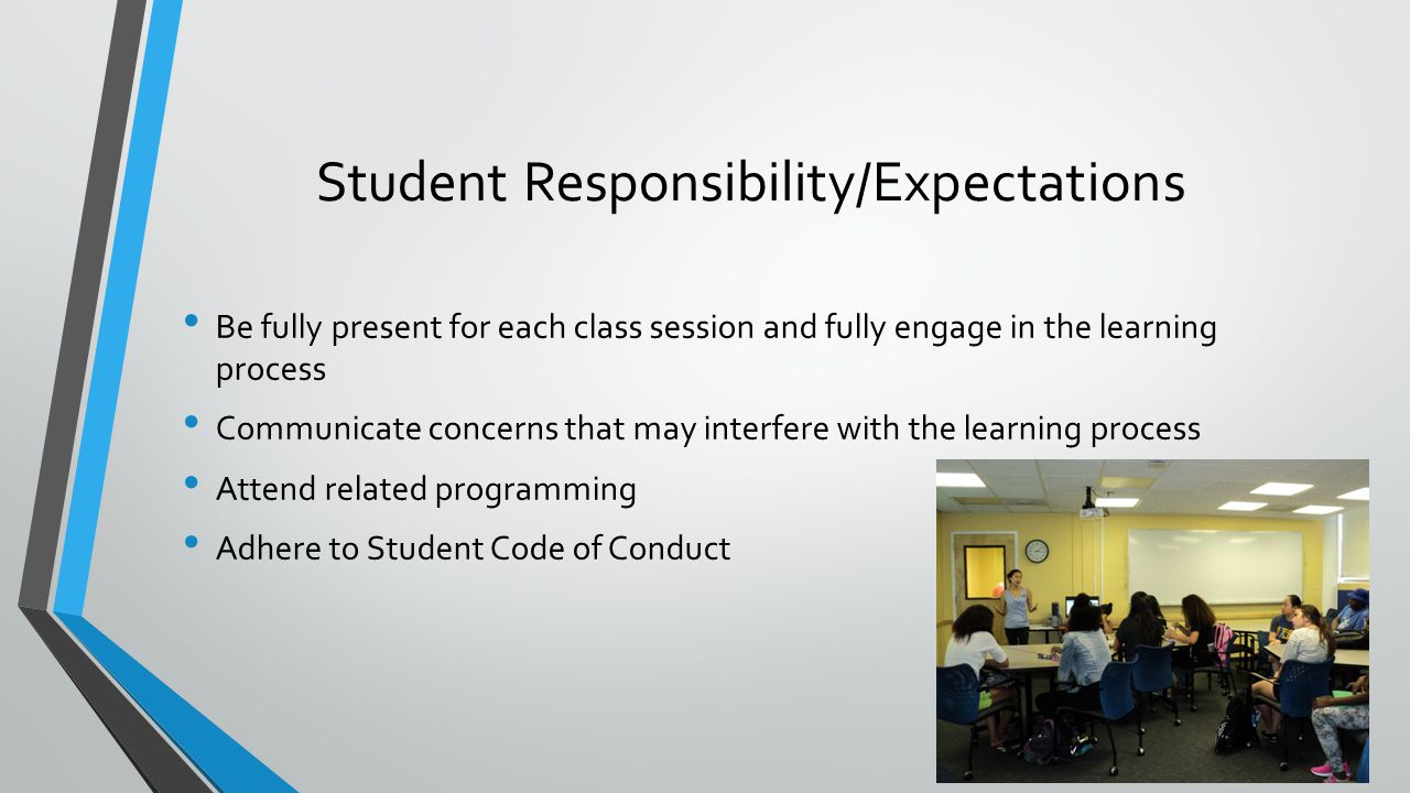Student Responsibility/Expectations