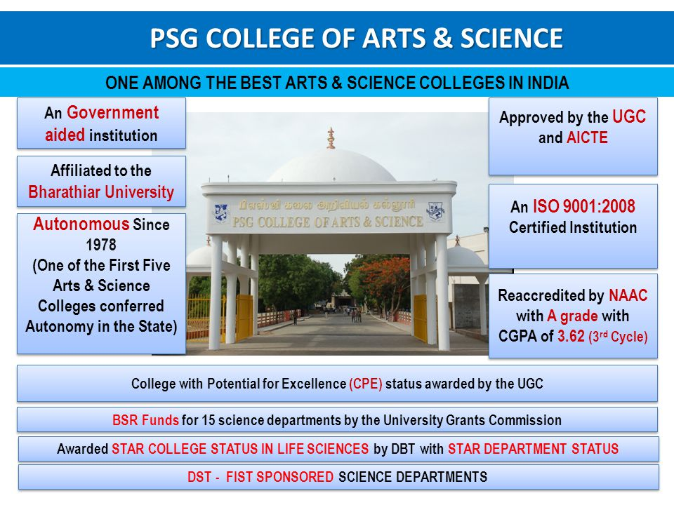 Psg College Of Arts Science Ppt Video Online Download