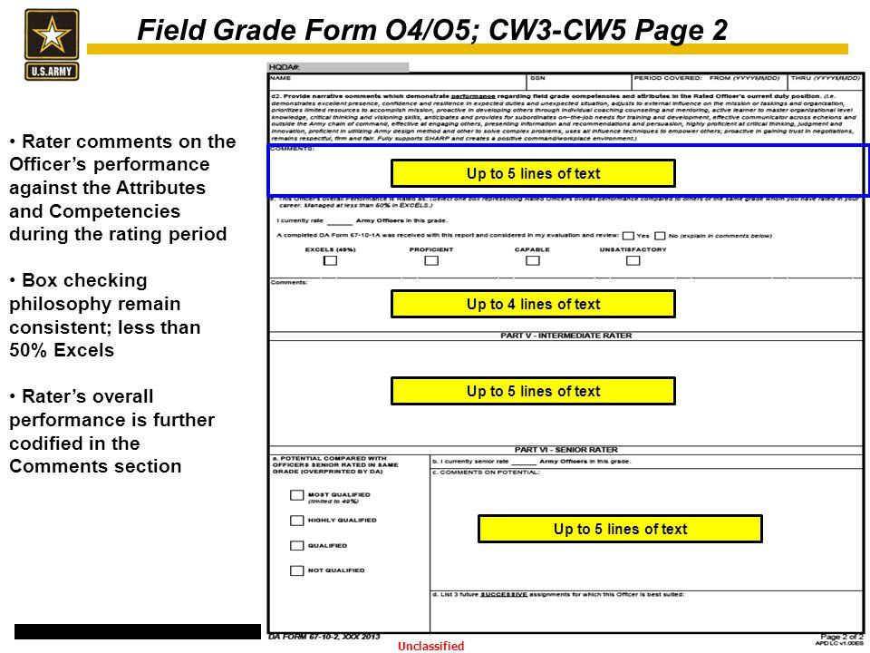 Revised Officer Evaluation Reports 1 APR 14 Implementation