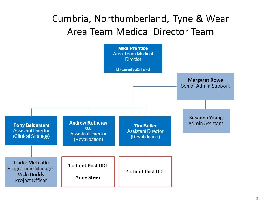 Cumbria, Northumberland, Tyne & Wear Area Team Medical Director Team