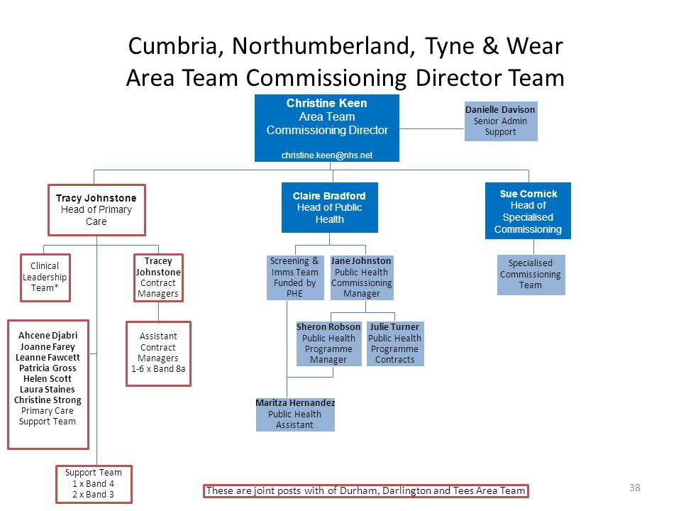 Cumbria, Northumberland, Tyne & Wear Area Team Commissioning Director Team