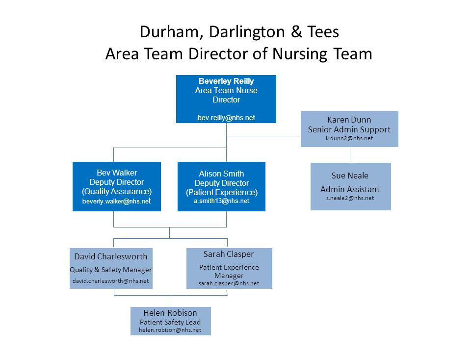Durham, Darlington & Tees Area Team Director of Nursing Team