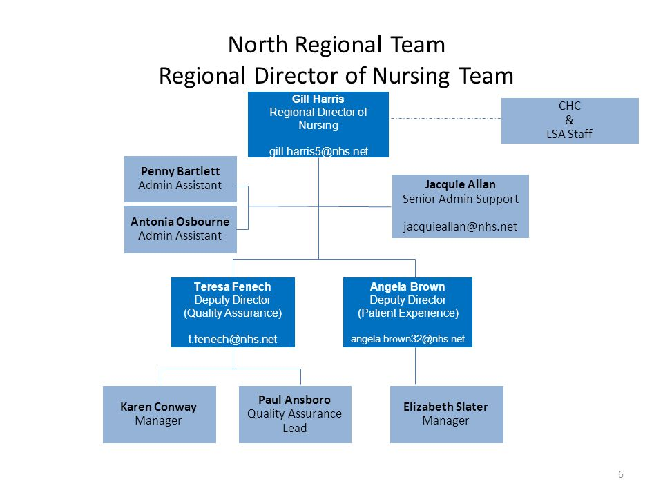 North Regional Team Regional Director of Nursing Team