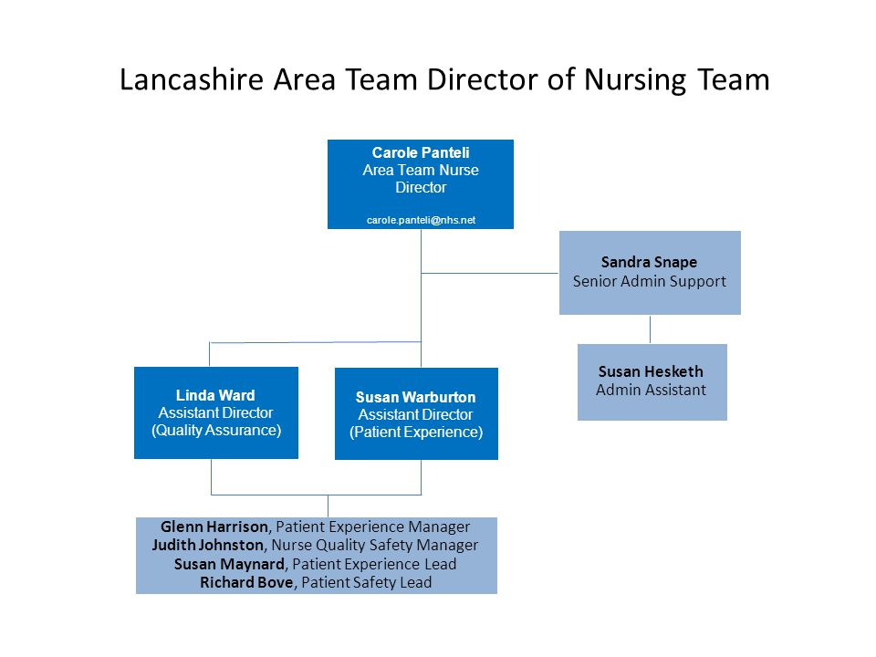 Lancashire Area Team Director of Nursing Team