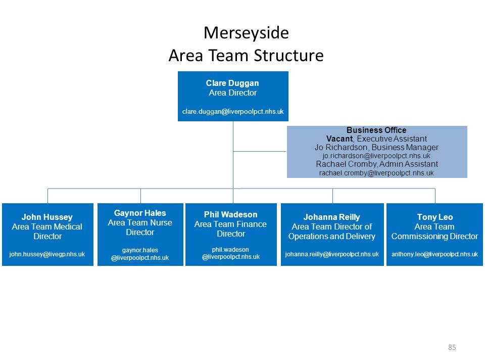 Merseyside Area Team Structure