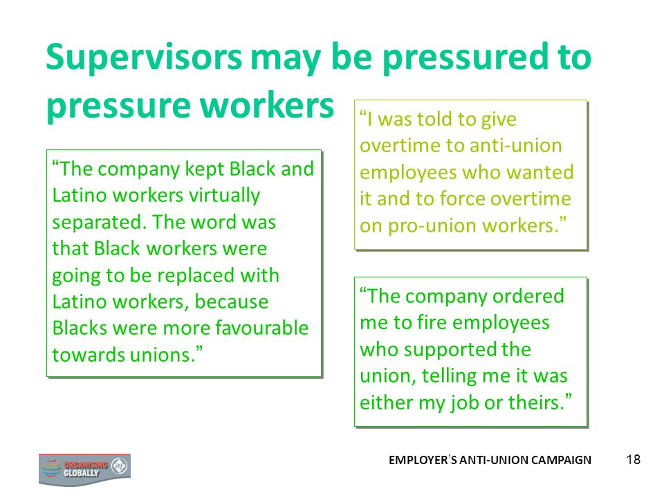 Supervisors may be pressured to pressure workers