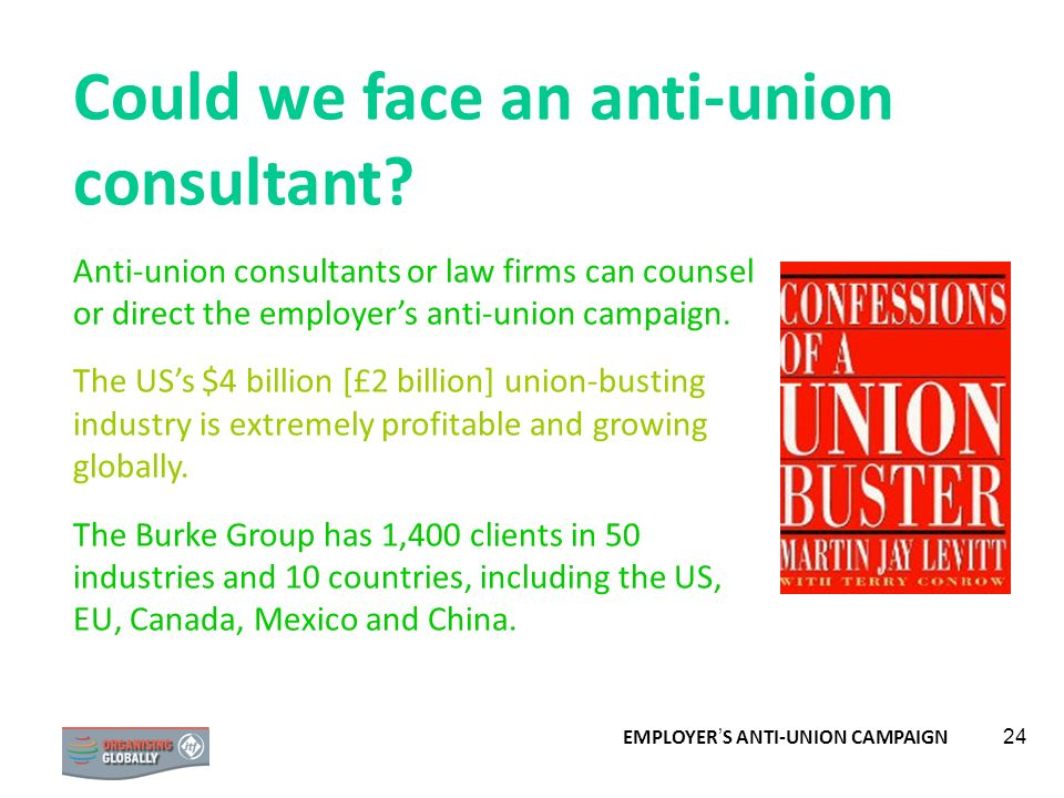 Could we face an anti-union consultant