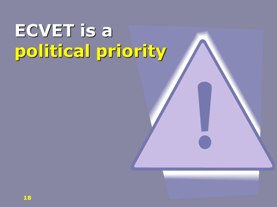 ECVET is a political priority