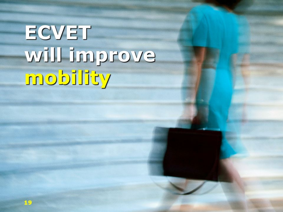 ECVET will improve mobility
