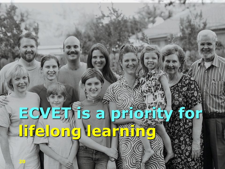 ECVET is a priority for lifelong learning