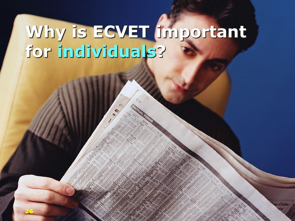 Why is ECVET important for individuals