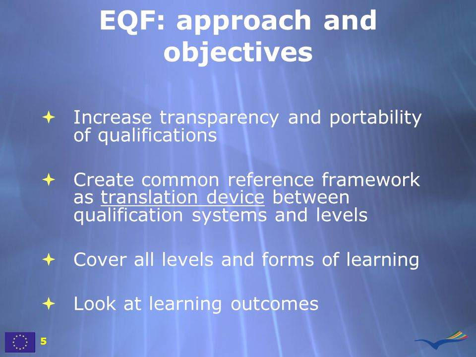 EQF: approach and objectives