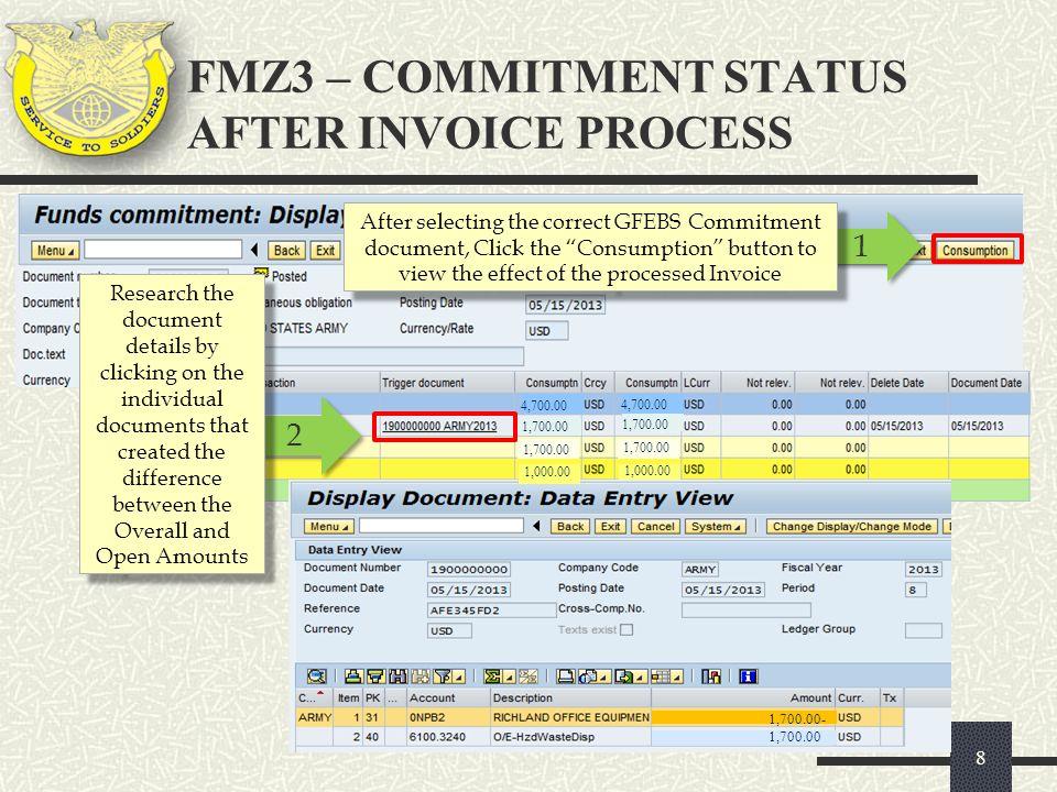 GFEBS Entering An Invoice, FB 60 Commercial Vendor