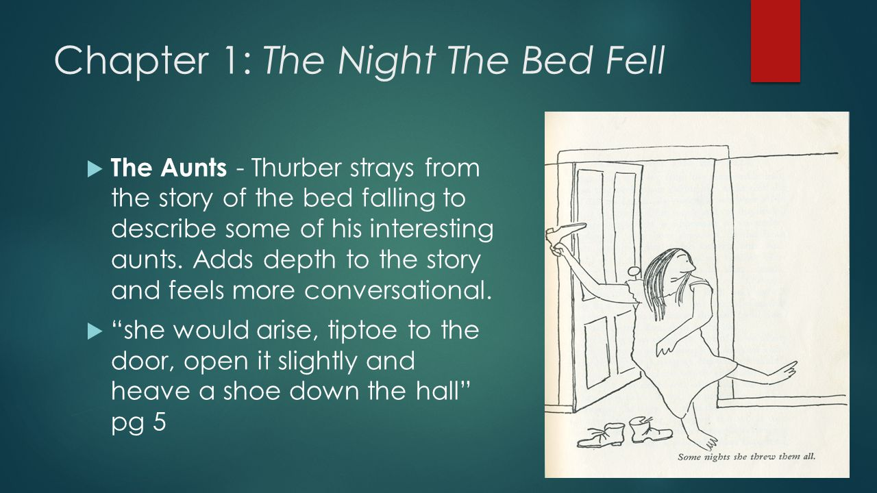 the night the bed fell by james thurber summary