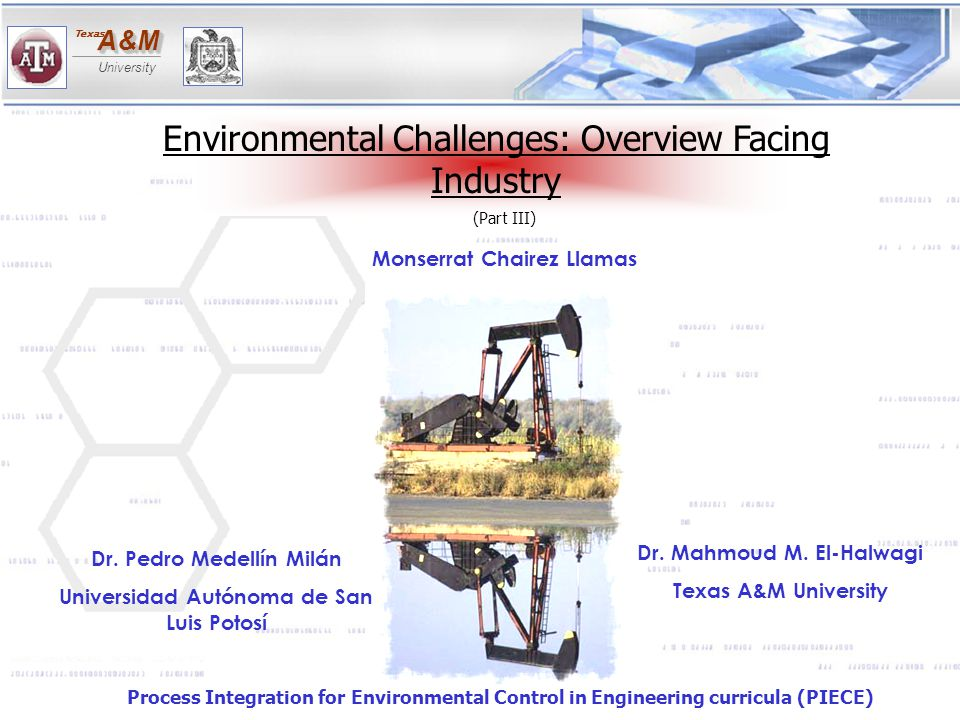 Environmental Challenges: Overview Facing Industry
