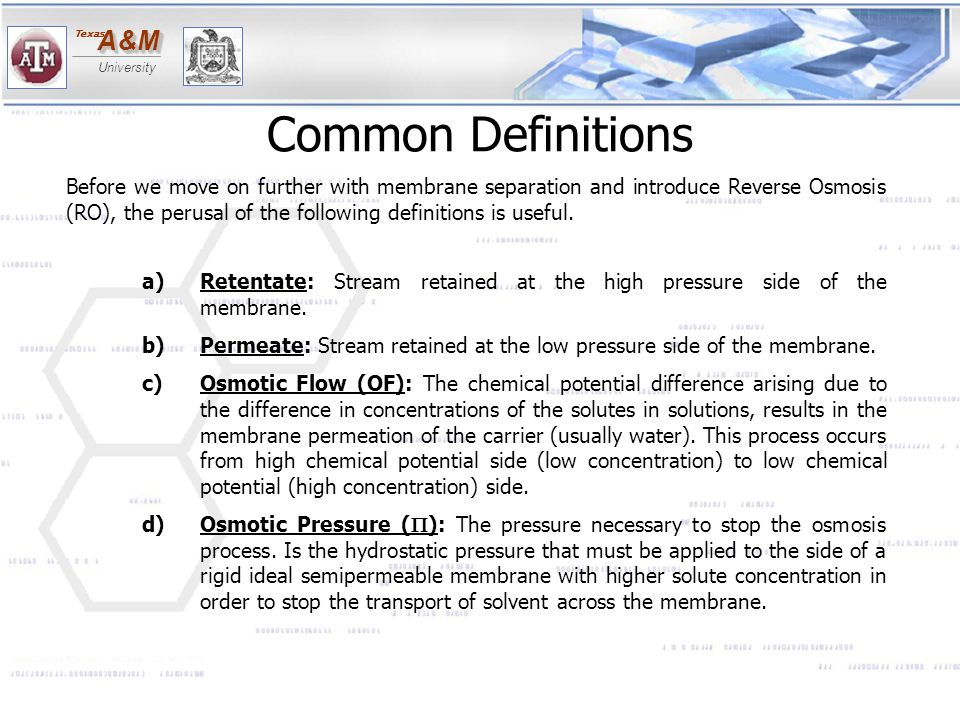 Common Definitions