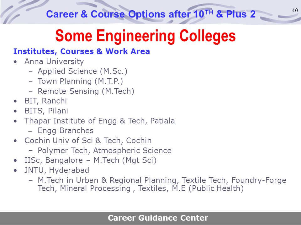 Some Engineering Colleges