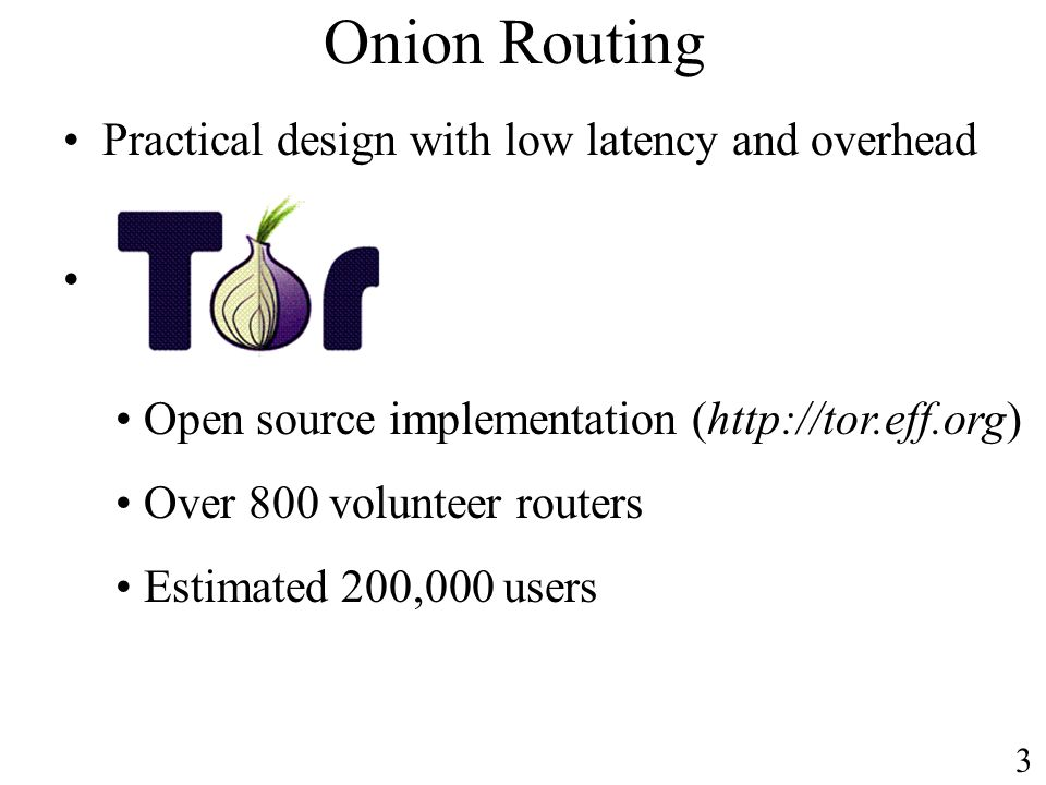 Onion Routing Practical design with low latency and overhead