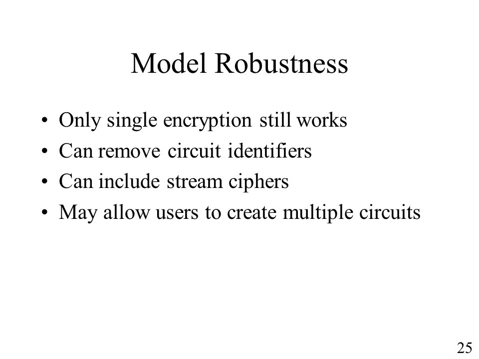 Model Robustness Only single encryption still works