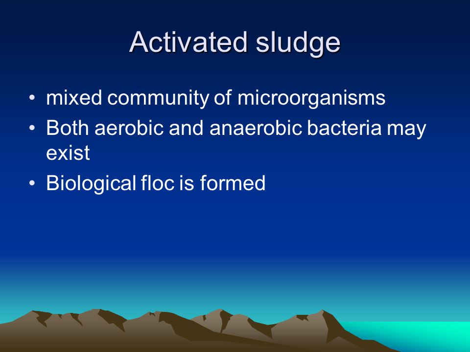 Activated sludge mixed community of microorganisms