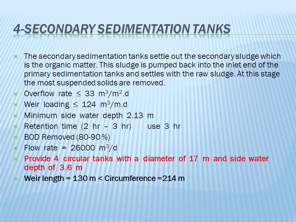4-Secondary Sedimentation Tanks