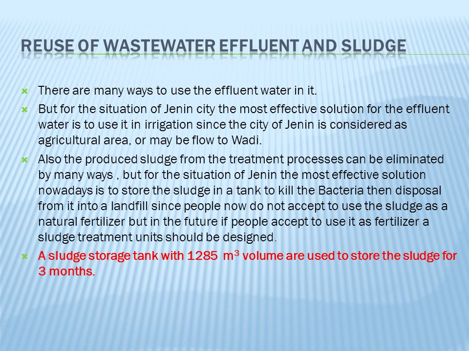 Reuse of Wastewater Effluent And Sludge