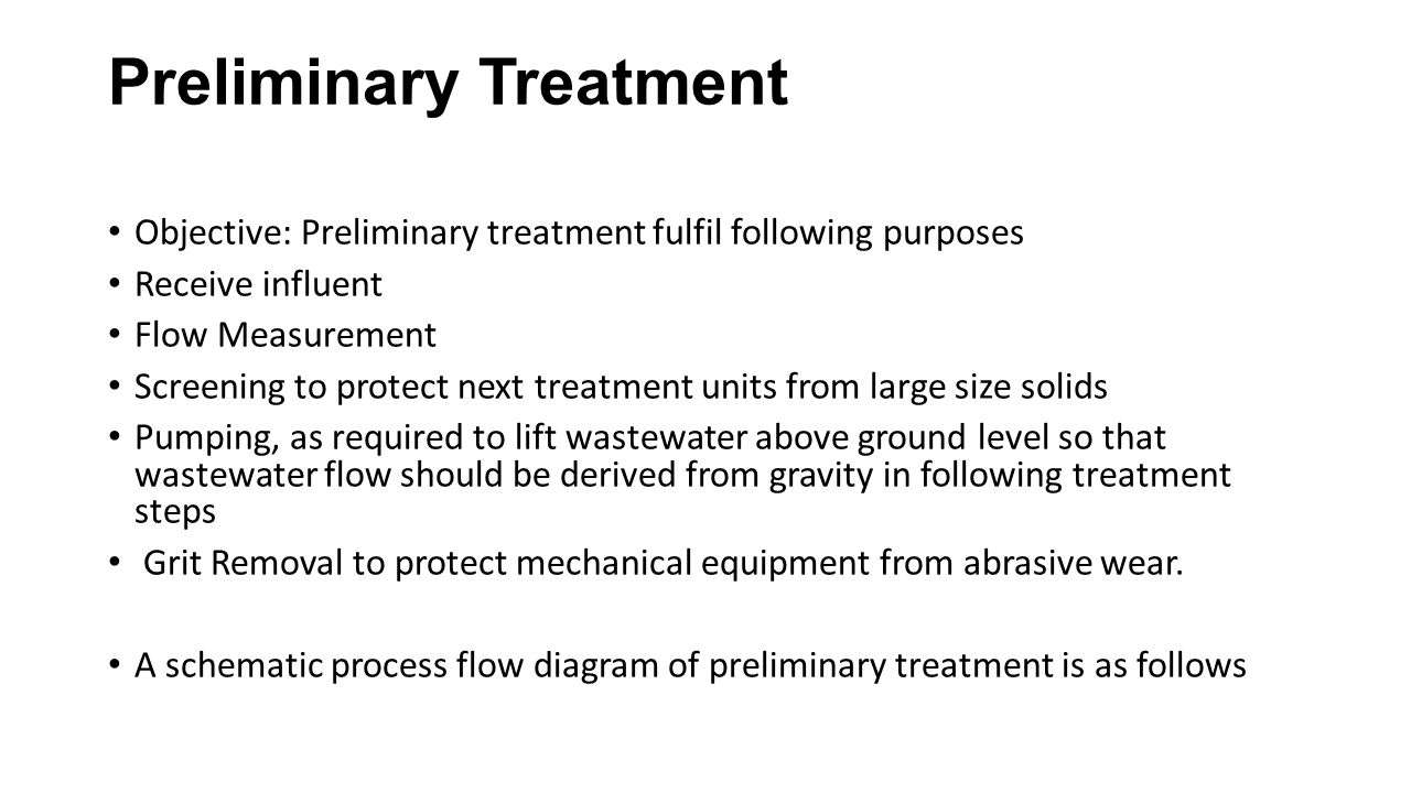 Preliminary Treatment