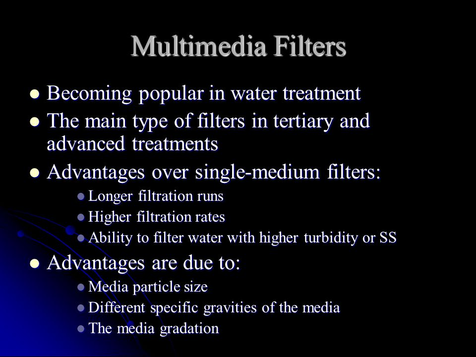 Multimedia Filters Becoming popular in water treatment