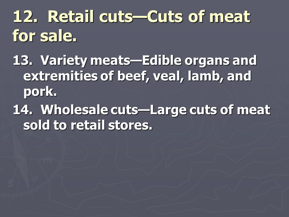Chapter 36: Meats  - ppt video online download