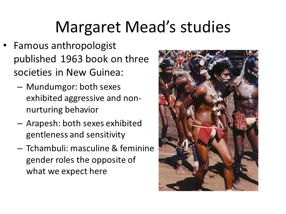Margaret Mead's studies