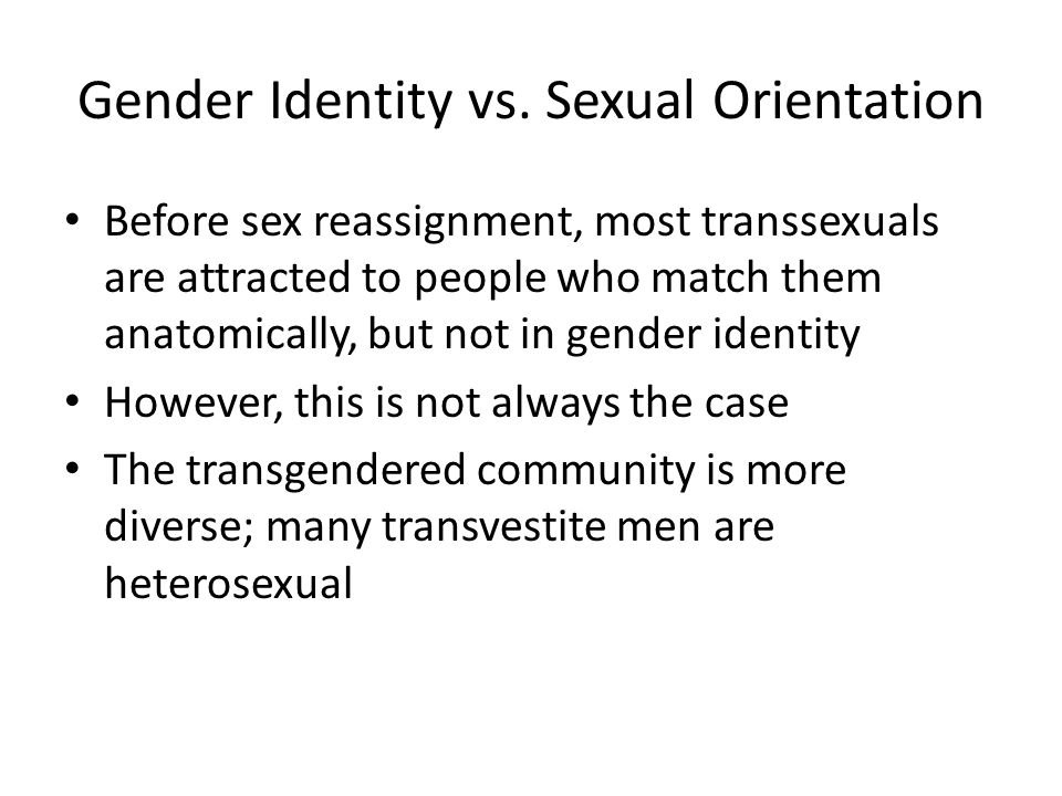 Gender Identity vs. Sexual Orientation