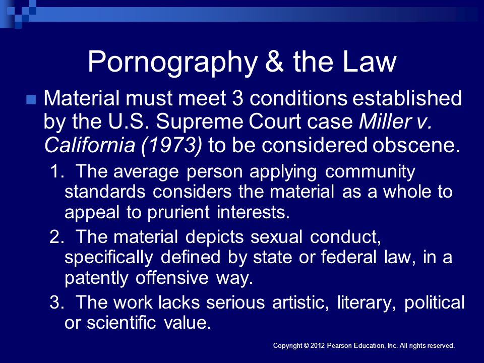 Pornography & the Law