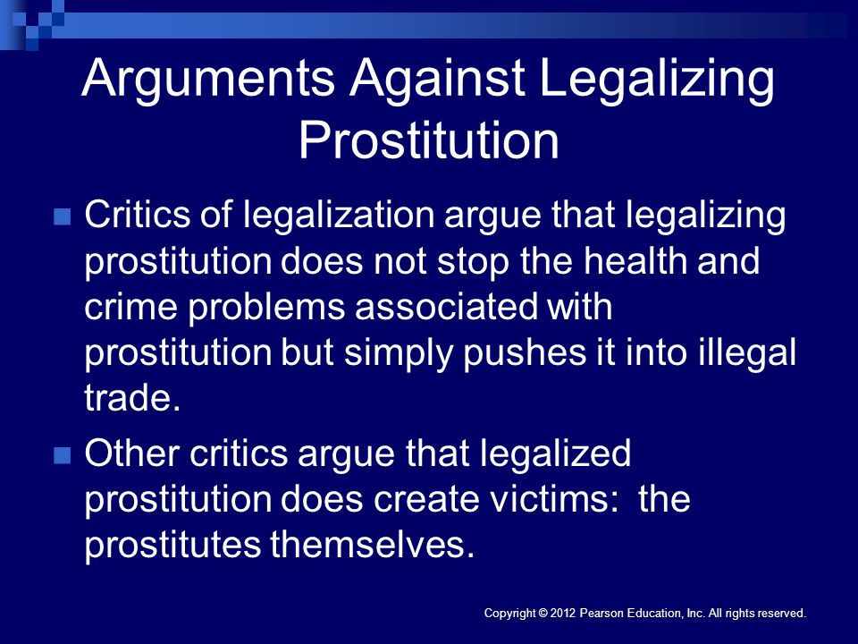 Arguments Against Legalizing Prostitution