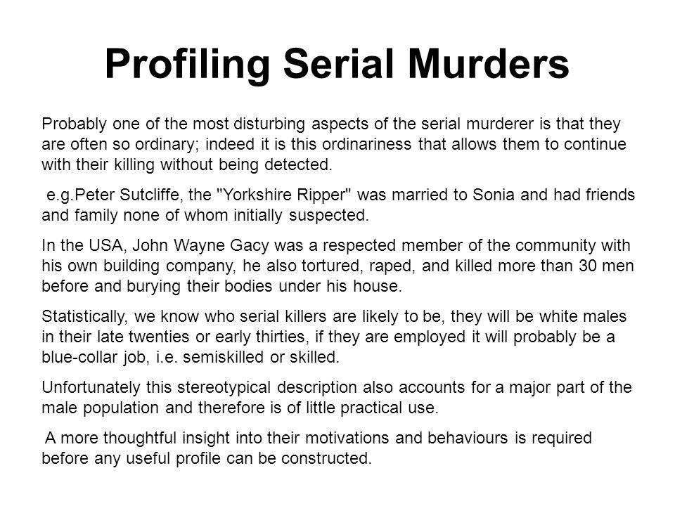 criminal profiling serial killers
