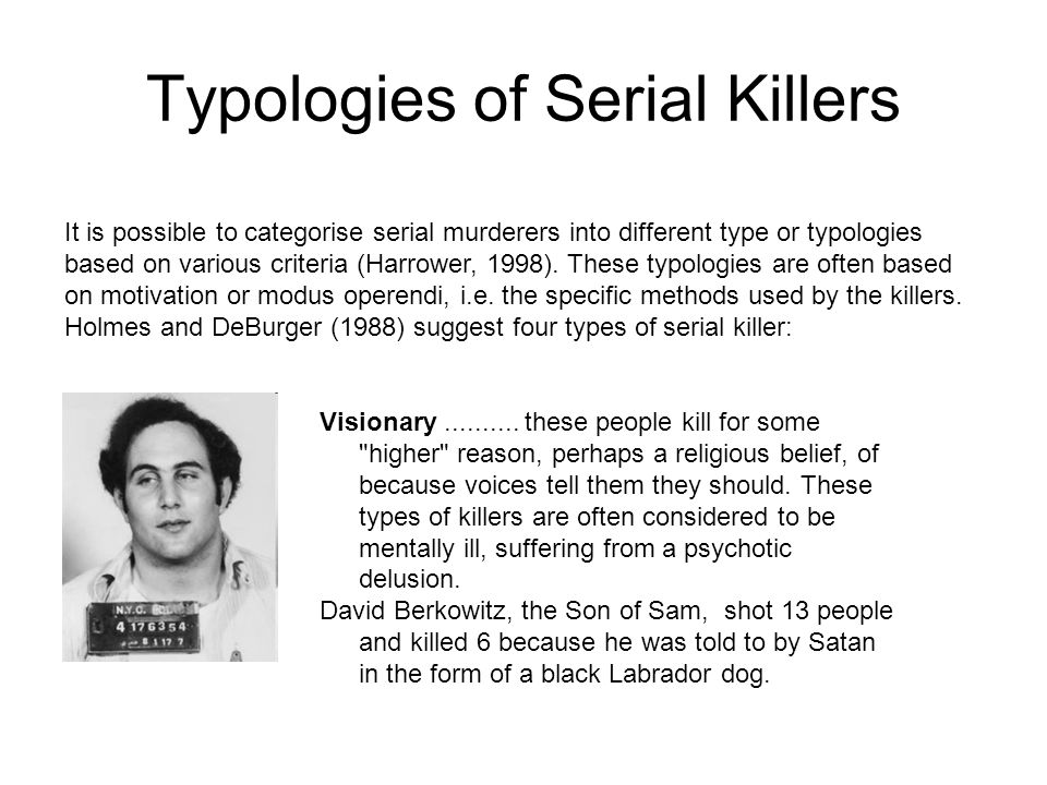 Forensic Psychology Serial Killers  - ppt download