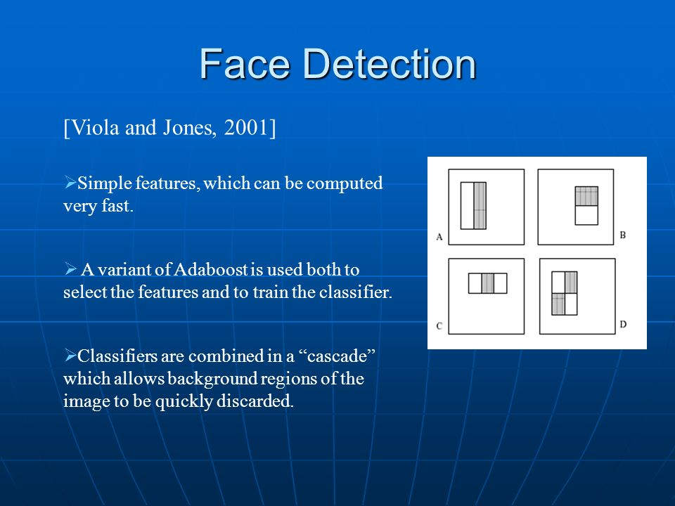 Face Detection [Viola and Jones, 2001]