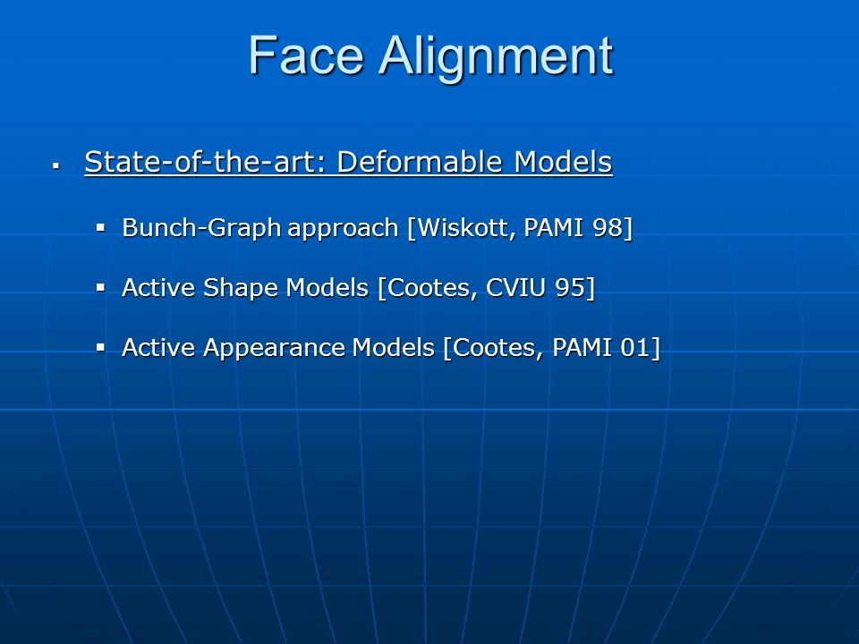 Face Alignment State-of-the-art: Deformable Models