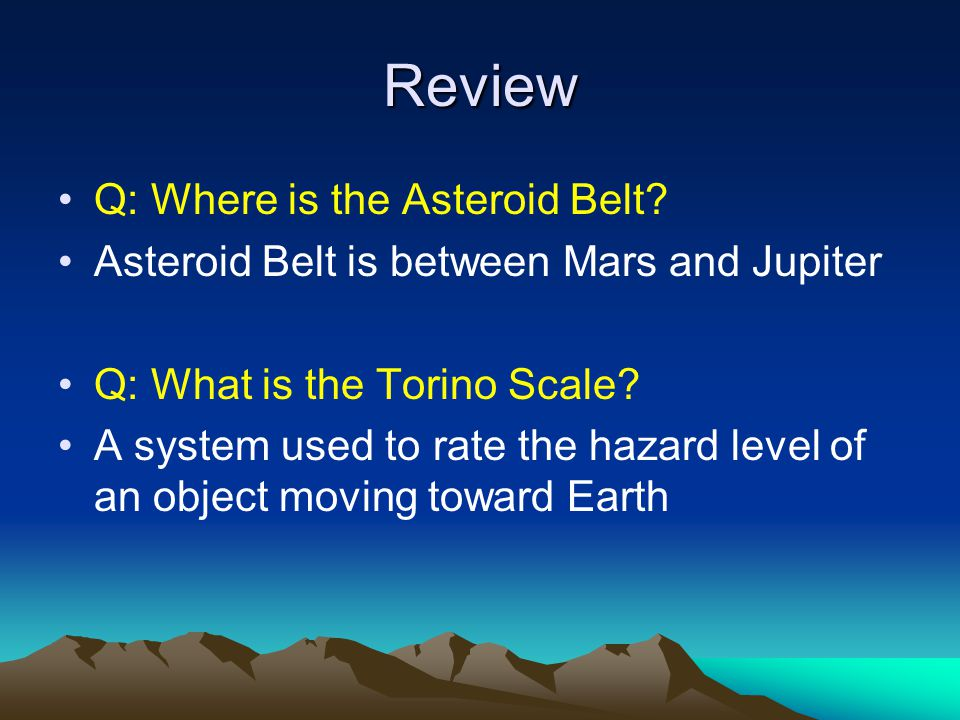 Review Q: Where is the Asteroid Belt