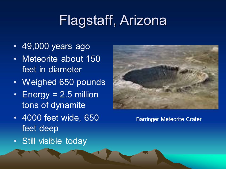 Flagstaff, Arizona 49,000 years ago