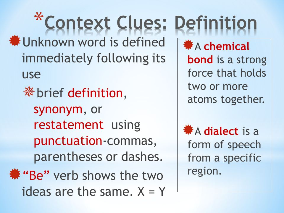 Context Clues. - ppt video online download