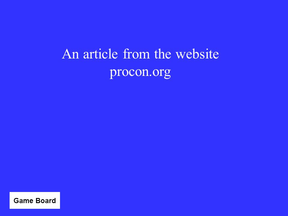 An article from the website procon.org