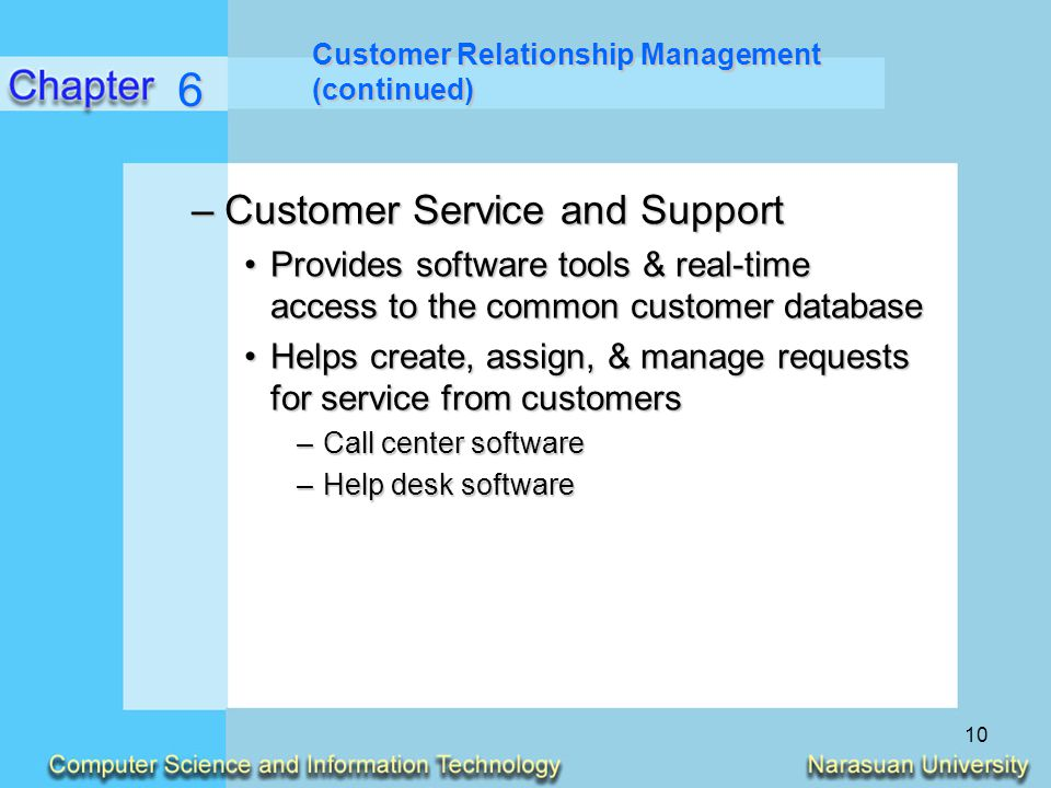 6 Customer Service and Support