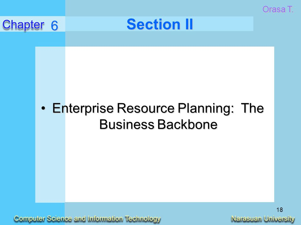 Enterprise Resource Planning: The Business Backbone